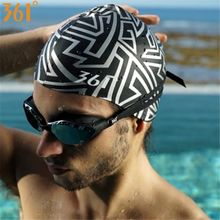 361 Silicone Swimming Cap Men Women Fashion Design Swimming Hat for Pool Hat Waterproof Ear Protection Adult Swim Accessories(China)