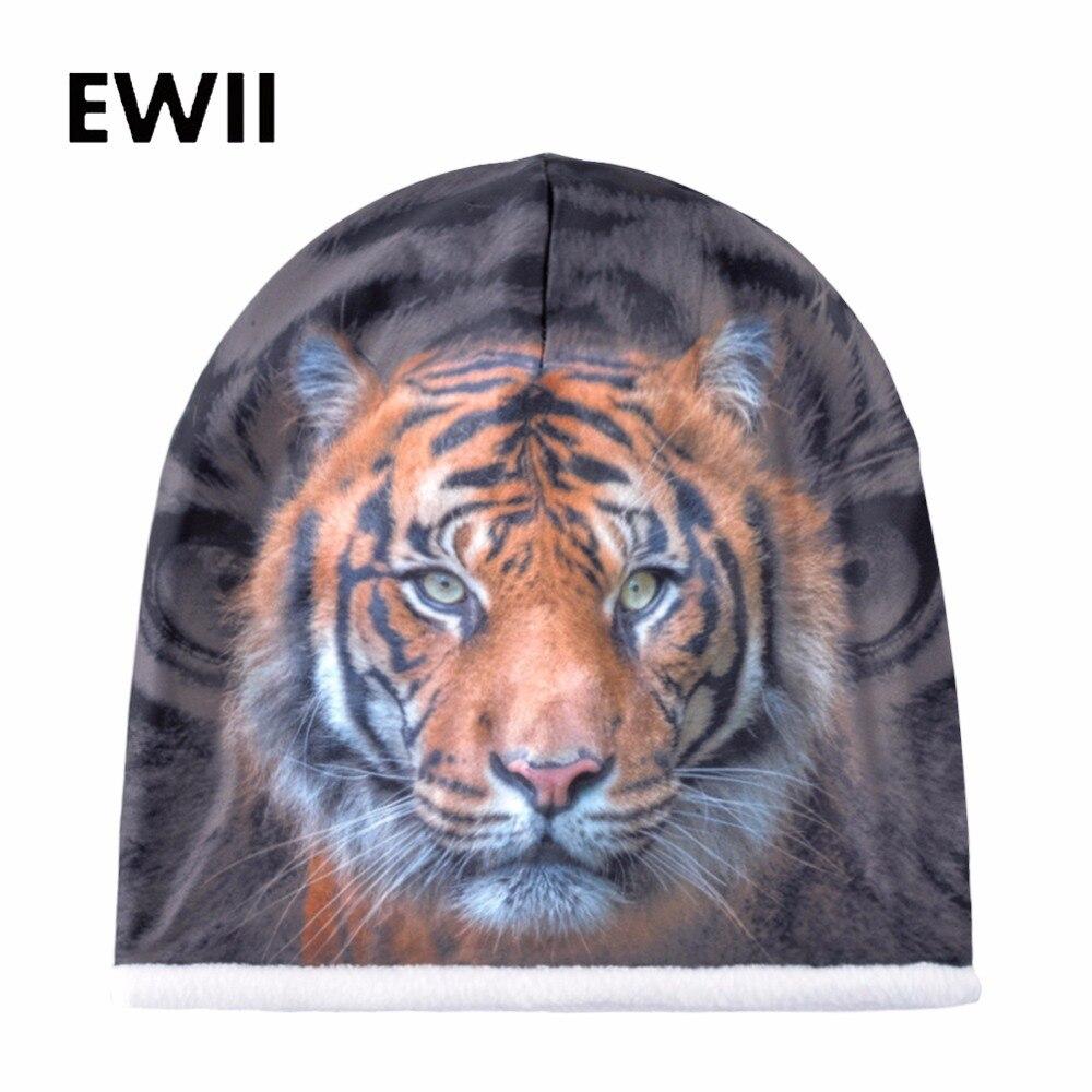 2018 New tigers   beanie   hats for women warm hat men winter cap   skullies   women print   beanies   caps men casual warm bonnet gorros