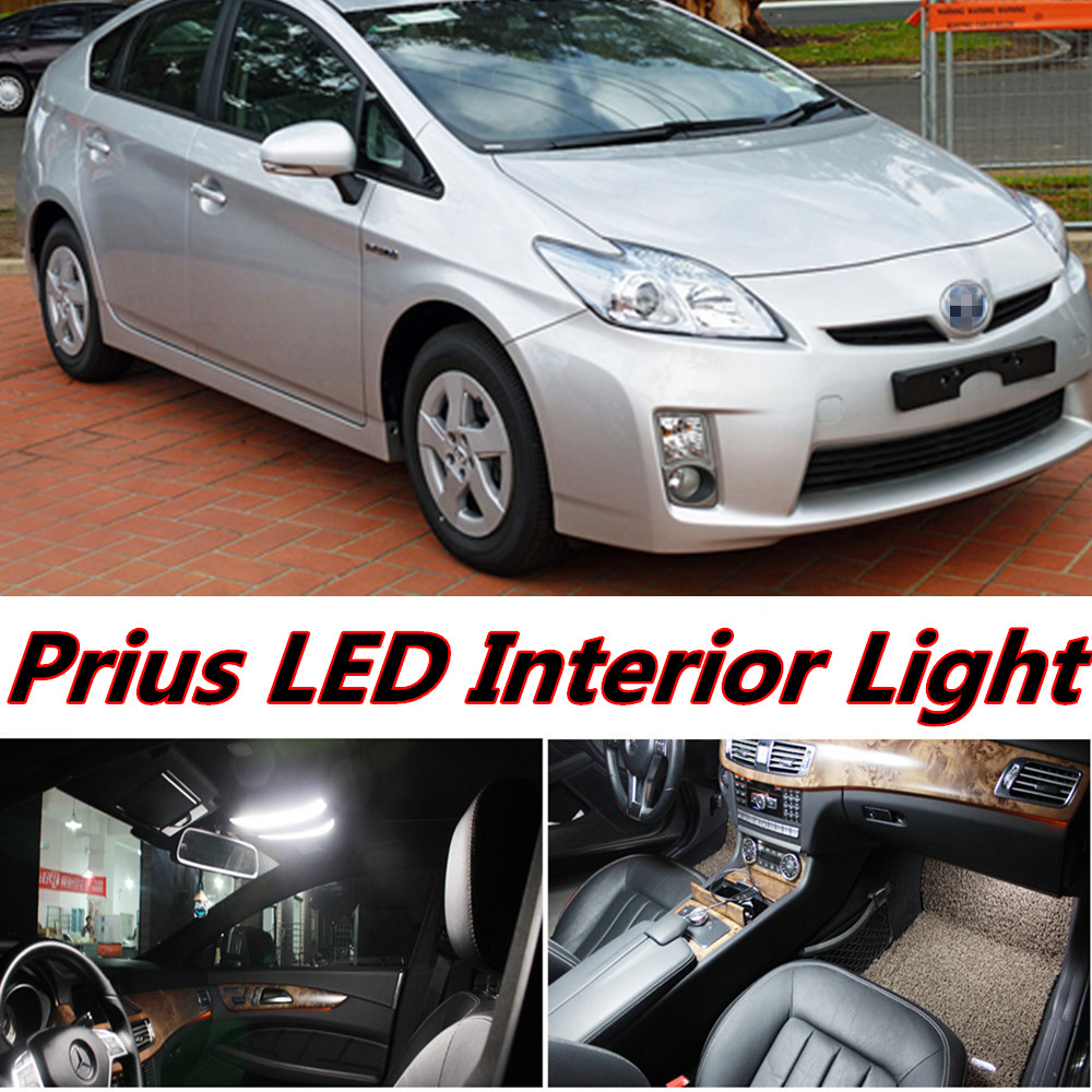 Night lord 8pcs X free shipping Error Free LED Interior Light Kit Package for toyota Prius accessories 2005-2015 free shipping new arrival 35pcs pack 2m pcs led aluminum profile for led strips with milky or transparent cover and accessories
