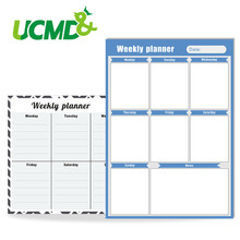 Magnetic Calendar Daily Weekly Planner Dry Erase WhiteBoard Fridge Schedule Sticker for Home Kitchen Office Custom Language
