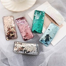 M MISM 2019 INS Hot Fashion Fish Scales Sequins BB Hair Clips For Baby Girls Rectangle Glitter Party Gift DIY Styling Hairpins