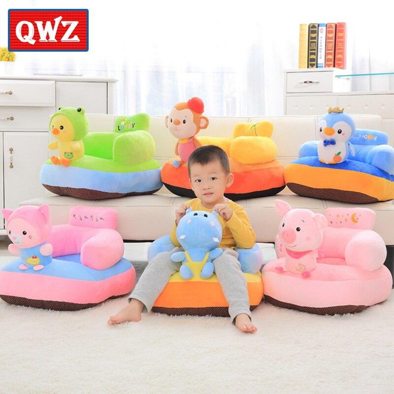 QWZ nouveau mignon doux en peluche bébé siège en peluche jouet Animal jouets infantile soutien du dos assis sécurité bébé canapé alimentation chaise siège enfant cadeau
