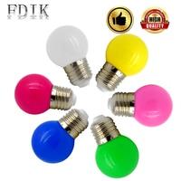 200pcs/Lot Colorful Globe Bulb Light E27 1W 3W Colorful LED Bulbs Lights Holiday Lamps Home Party Decorative Lamp Lighting