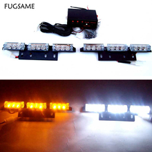 2 X 9 LED auto Flash strobe lamp bulbs car  vehicle warning Lights emergency 18 led 3 flashing modes lighting White