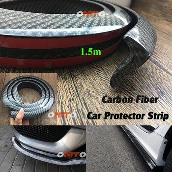 1.5 m Nero di carbonio Auto auto Posteriore Del Tetto del Tronco Ala Spoiler adesivo Kit per Bmw audi benz VW Toyota Ford Kia Nissan Hyundai