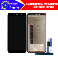BLACKVIEW BV5500 PRO LCD Display+Touch Screen Digitizer 100% Original Tested LCD Screen Glass Panel For BV5500 PRO+ Adhesive