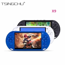 10PCS X9 AV Output TV Video Game Console Classic Games X9 Handheld Game Player 8GB 5.0″ Screen Movie Camera E-book Multifunction