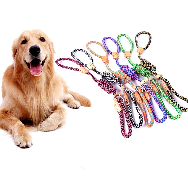 Retractable Nylon Dog Leash Rope Pull Running And Training Traction Chain 6 Color