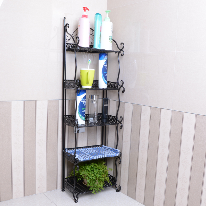 ZMHT Iron Bathroom Shelves Bathroom Floor racks rack shelf storage ...