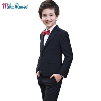 7dc9e71c6 4 piezas niños trajes de niño formal boda chaqueta niños traje de ropa de  marca flor Formal de los muchachos trajes traje de niño garcon mariage
