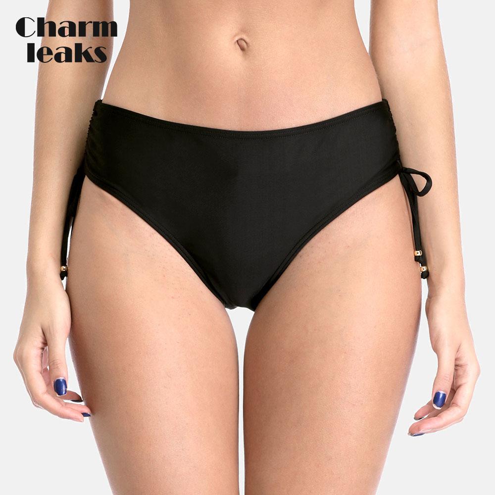 Charmleaks Women's Bikini Bottom Ladies Side Bandage Swim Trunks Sexy Swimwear Briefs Swimming Bottom