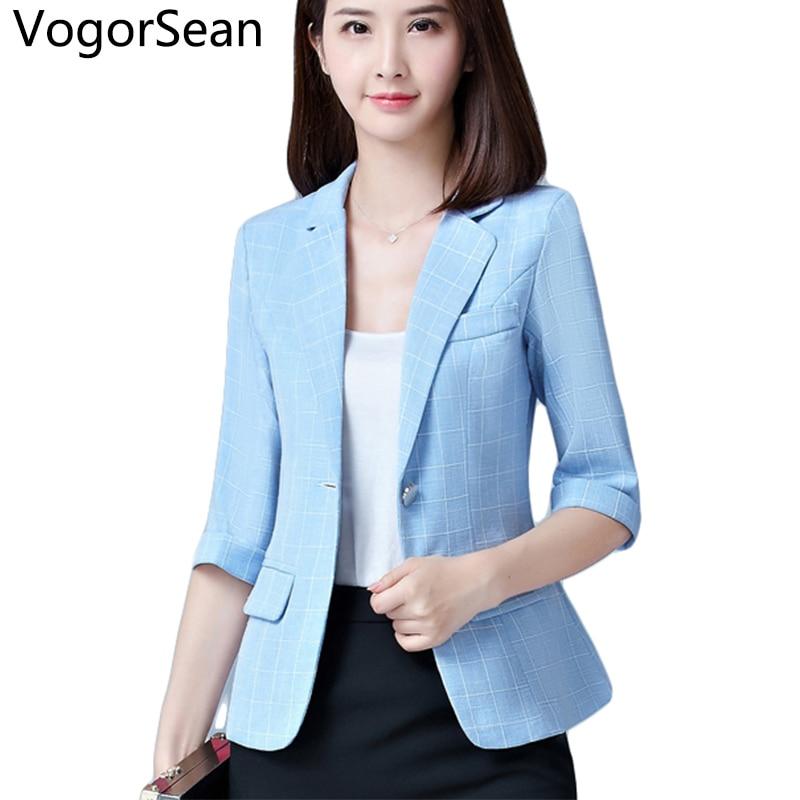 58eb658eda6f6 Vogorsean mujeres formal básica Blazers Chaquetas mujer primavera ...