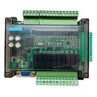 FX3U 24MR 6AD 2DA high speed PLC industrial control board with 485 communication and RTC