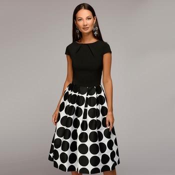 Women Dot Print Summer 2018 Casual Dress