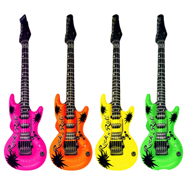 12 шт. надувные гитары саксофон микрофон музыкальные игрушки декоративные аксессуары для бассейна вечерние для украшения дома