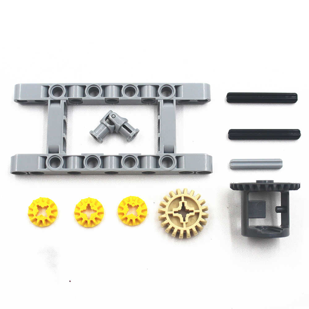 MOC blocks Technic Parts 10pcs/SET Technic FRAMED DIFFERENTIAL GEAR SET Kit  Pack Chassis Part Chassis Part Compatible With Lego