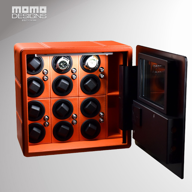 Intelligent Safe box for 12 Automatic watch winder display Hidden strongbox in high security carbon steel container safety box