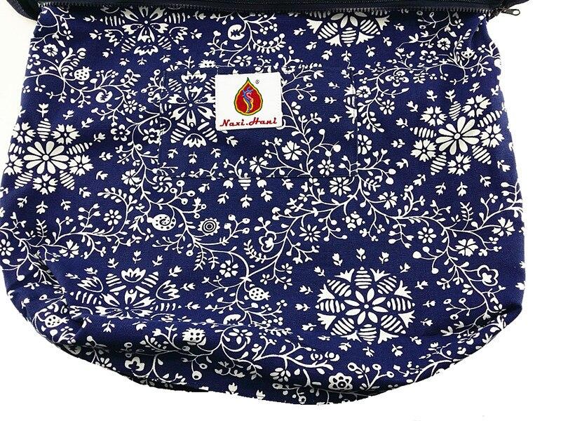bordado sacos de ombro do vintage azul