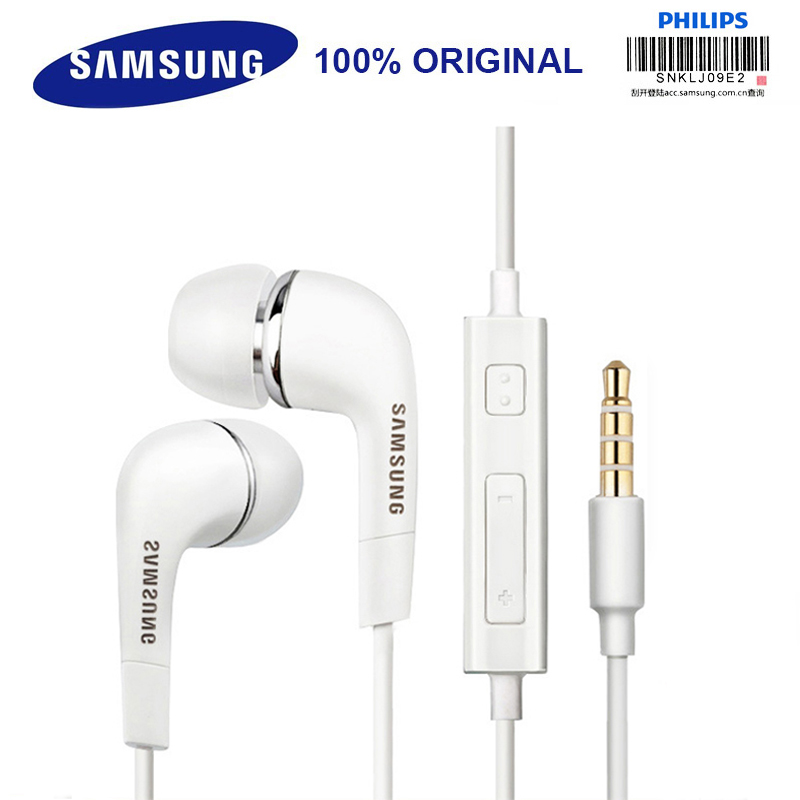 SAMSUNG Original Earphone <font><b>EHS64</b></font> Wired 3.5mm In-ear with Microphone for Samsung Galaxy S8 S8Edge Support Official certification image