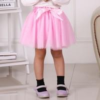 Baby Skirts For Girls Pettiskirts Tutu Bow Ball Gown Toddler Party Kawaii Kids Skirt Five Layered Skirt Children's Clothing