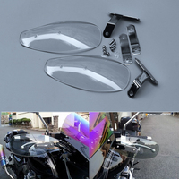 Handle Bar Hand Guard Protector Wind Deflector Motorcycle Bike Shield