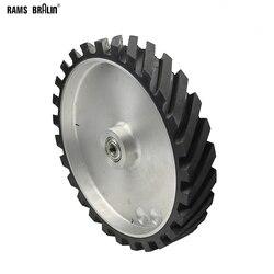 300*50 мм Рифленое резиновое Контактное колесо Динамически сбалансированный ленточный шлифовальный станок набор шлифовальных лент для шлифо...