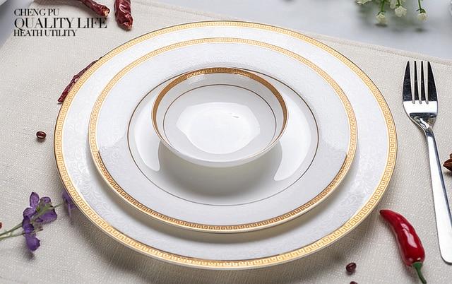 3pcs/lot 10 u0026 8 u0026 4 inch real bone china dinner plate & 3pcs/lot 10 u0026 8 u0026 4 inch real bone china dinner plate set white ...