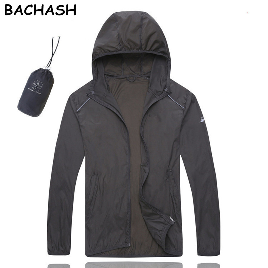 BACHASH 2018 Fashion Casual Thin Light Color Windbreaker Coat UV Sun Protection Clothing Lovers Size Sunscreen Windbreaker New
