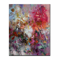 100% hand-painted oil painting high quality home decor painting flower pictures   DM-1611806