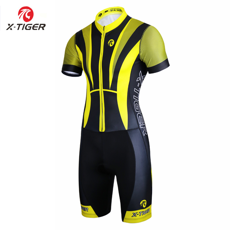 X Tiger Triathlon Cycling Jersey Ropa De Ciclismo Maillot Compression Sponge Padded Short Sleeve Cycling Running
