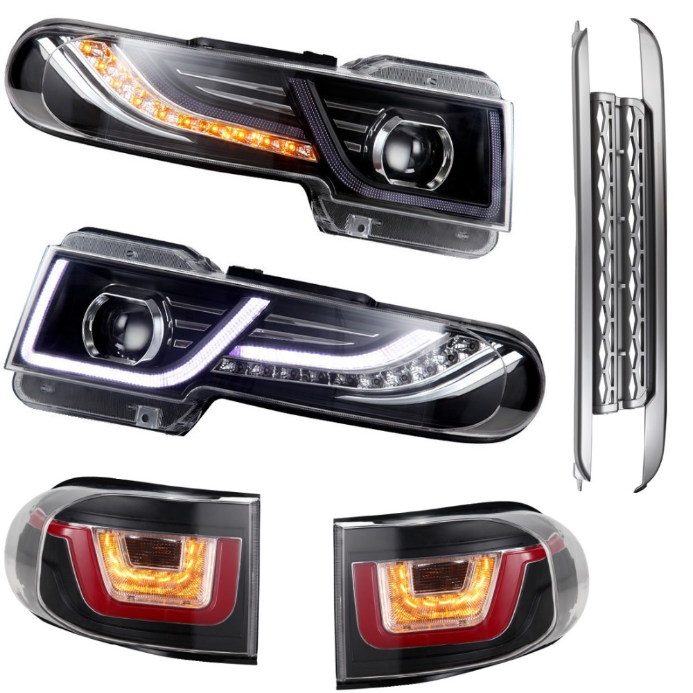 vland factory  For  FJ Cruiser headlight FJ rearlight LED headlamp+front grille+taillight plug and play design  free shipping vland factory for chevrolet cruze taillight 2010 2011 2012 2013 led rearlight