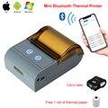 Портативный 58 мм термальный Bluetooth принтер Bluetooth чековый принтер bluetooth USB/Серийный порт для Windows Android POS принтер