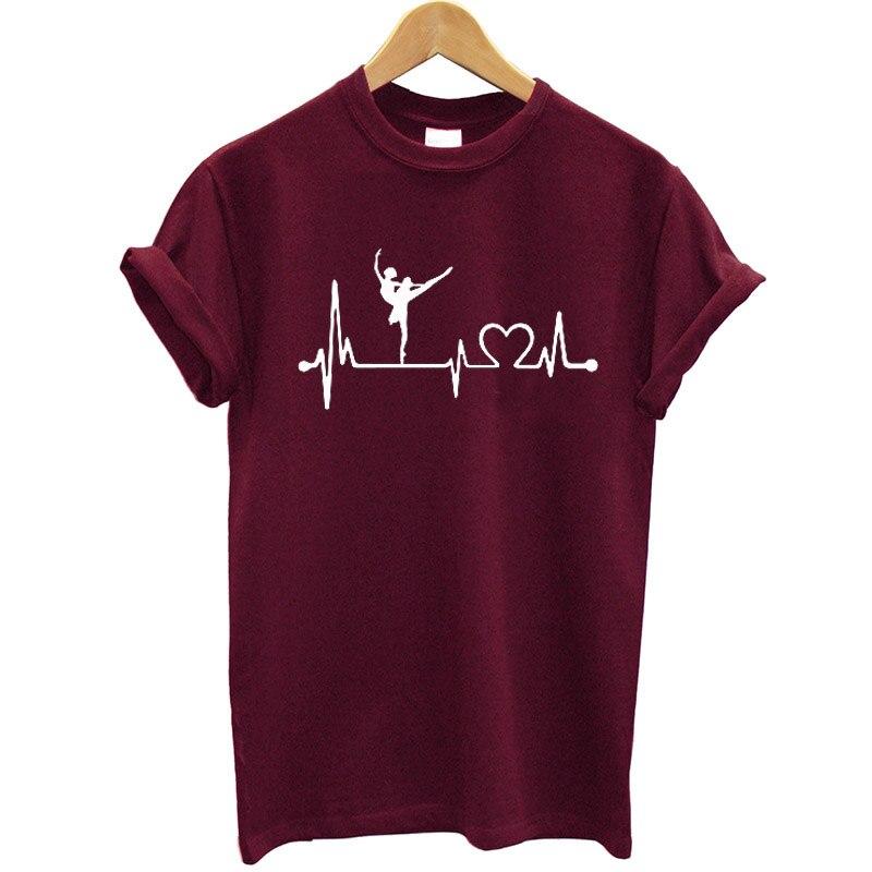 Ballet Dance Printed Women T-shirt Cotton Short Sleeve Loose Fit T-shirt Funny Graphic Tshirt Women Streetwear Summer Tops Tees