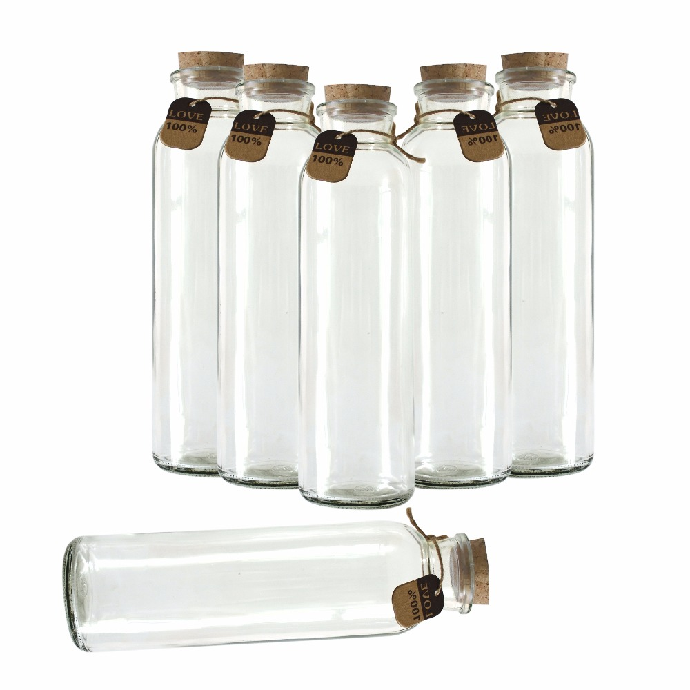 New Hot 10Pcs/Lot Cork Glass Bottle 55*190mm Cute Tiny Empty Clear Wish Bottles Holiday Wedding Favor Decration Gifts 100 pcs lot of small glass vials with cork tops 1 ml tiny bottles little empty jars