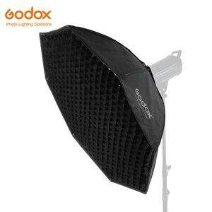 """Image 1 - Godox softbox 95cm 37 """"Octagon Honeycomb Grid Softbox miękkie pudełko z mocowaniem Bowens na błyskanie studyjne"""