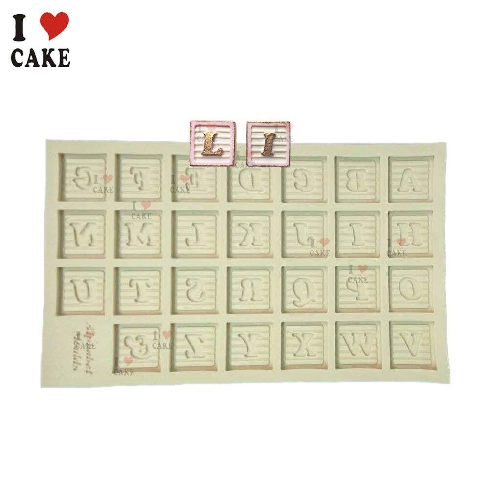 Envío gratis 26 letras inglesas decoración de la magdalena molde de - Cocina, comedor y bar