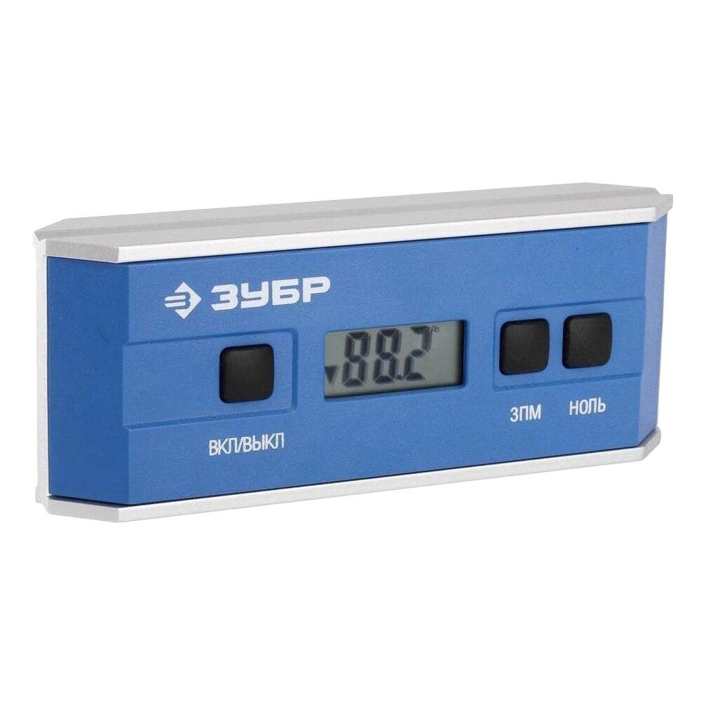 The digital inclinometer ZUBR 34745 angle finder digital protractor w backlight alarm magnetic v groove gauge level inclinometer