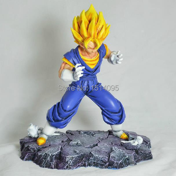 28cm Anime Dragon Ball Z Gogeta Super Big PVC Action Figure Collection Model Toy GB061