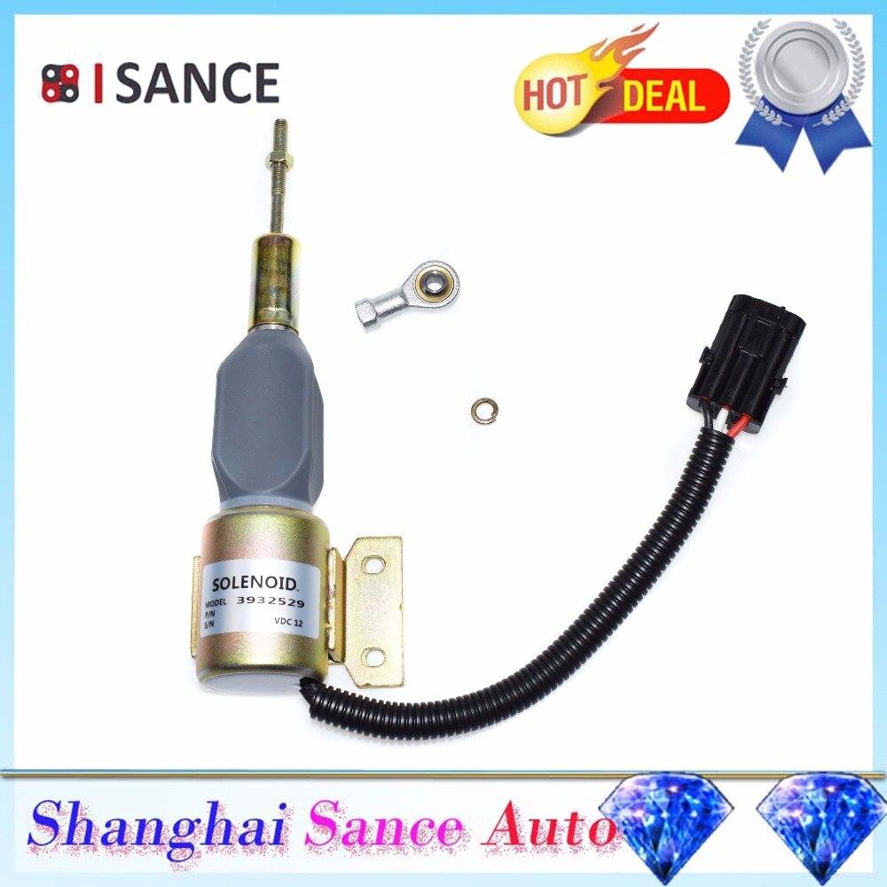 ISANCE Engine Fuel Shut Off Stop Solenoid Valve 12V For SA 4755 12 3932529 3930658 J932529
