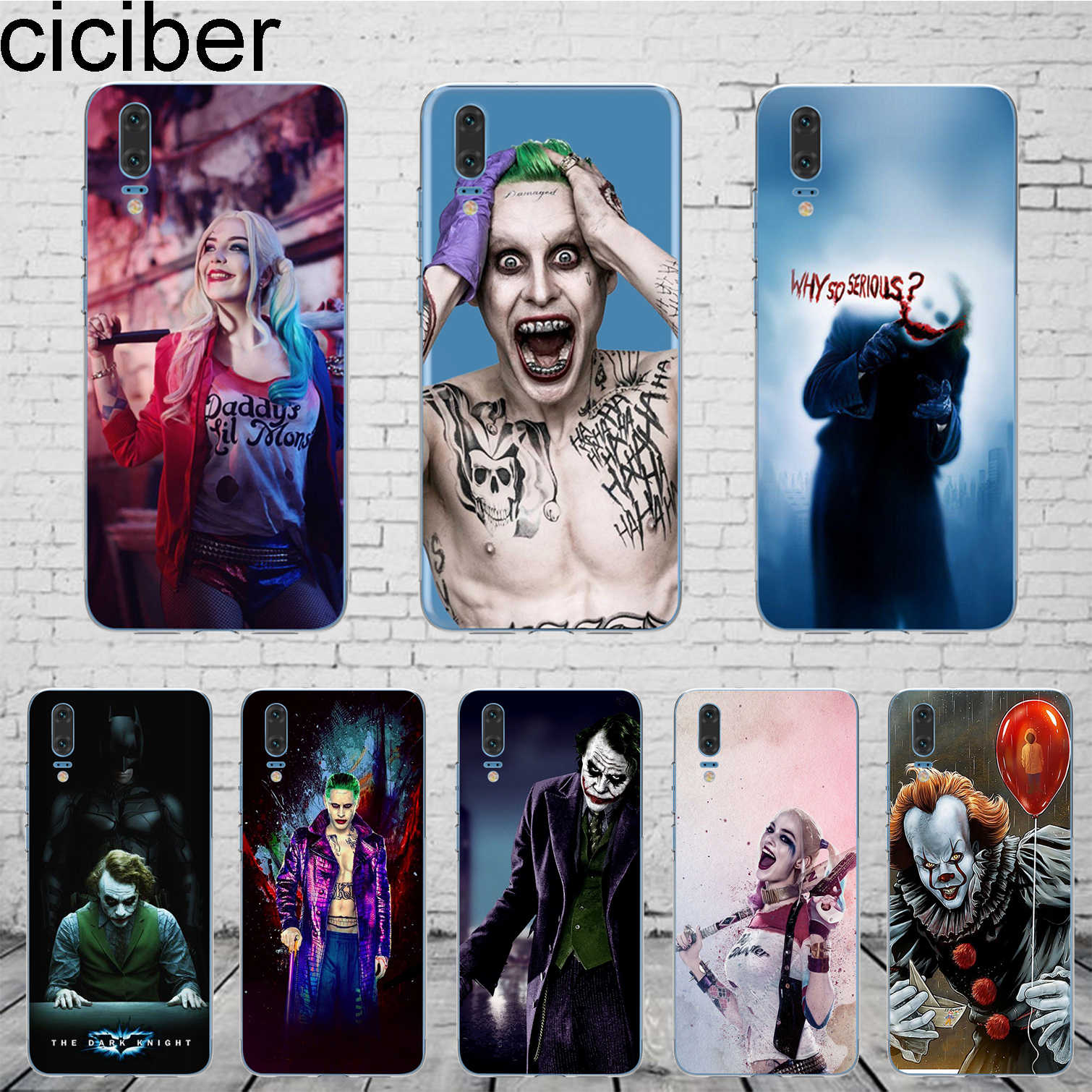 ciciber DC Marvel Suicide Squad Joker For Mate 20 10 9 Lite Pro X 2017 Fundas For Huawei P20 10 9 8 Pro Lite Plus Phone Case TPU