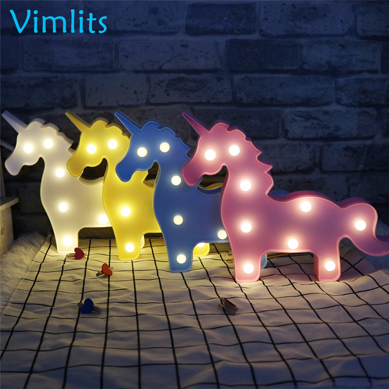Vimlits Novelty Unicorn Children S Night Light Animal 3d