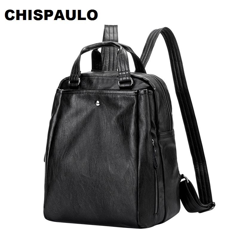 2017 Brand Women Backpack Genuine Leather School Backpacks For Teenage Girls Oxford Shoulder Bag Large Capacity Travel Bags N026