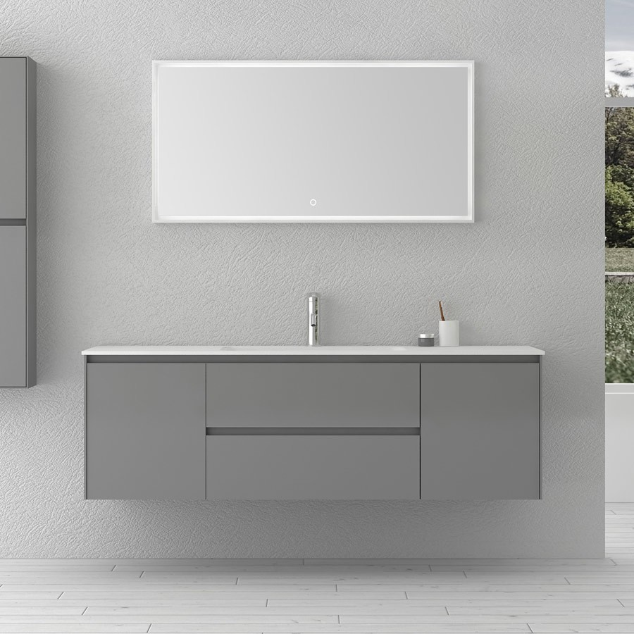 1400mm Bathroom Furniture Free Standing Vanity Stone Solid Surface Blum Drawer Cloakroom Wall Mounted Cabinet Storage 2245
