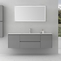 1400mm Bathroom Furniture Free Standing vanity Stone Solid Surface Blum Drawer Cloakroom Wall Hung Cabinet Storage 2245