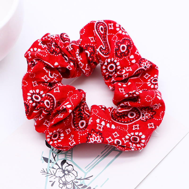 Popular Print   Headwear   Women Scrunchies Ponytail Holder Scrunchy Hair Ropes Scrunchie Hair Ties for Girls Hair Accessories
