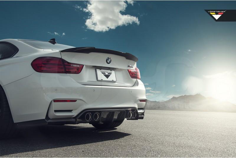 2014-2017 BMW F82 M4 Vorsteiner Style Rear Trunk Spoiler Wing DCF Plain Weave (10)