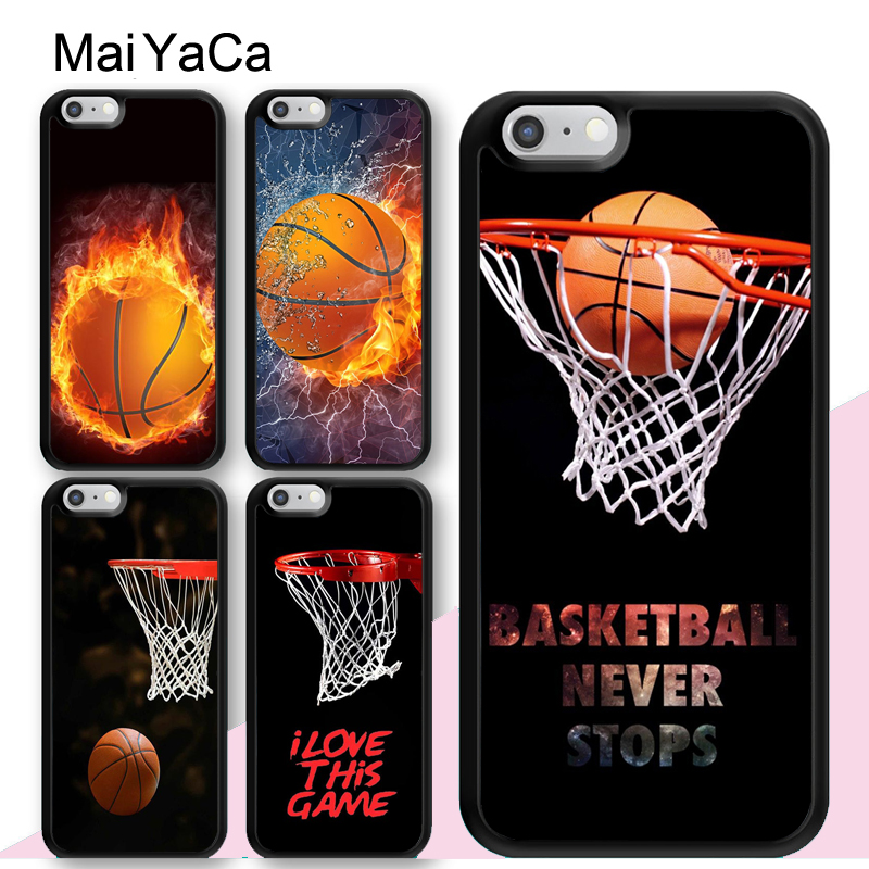 MaiYaCa Basketball Net Sport NEVER STOPS Mobile Phone Cases Accessories