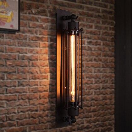 FUMAT Loft Cru De Lampe De Mur De Fer Côté Éclairage Bar Escaliers Café Edison Flûte Appliques Lampe De Chevet Loft Style lumière