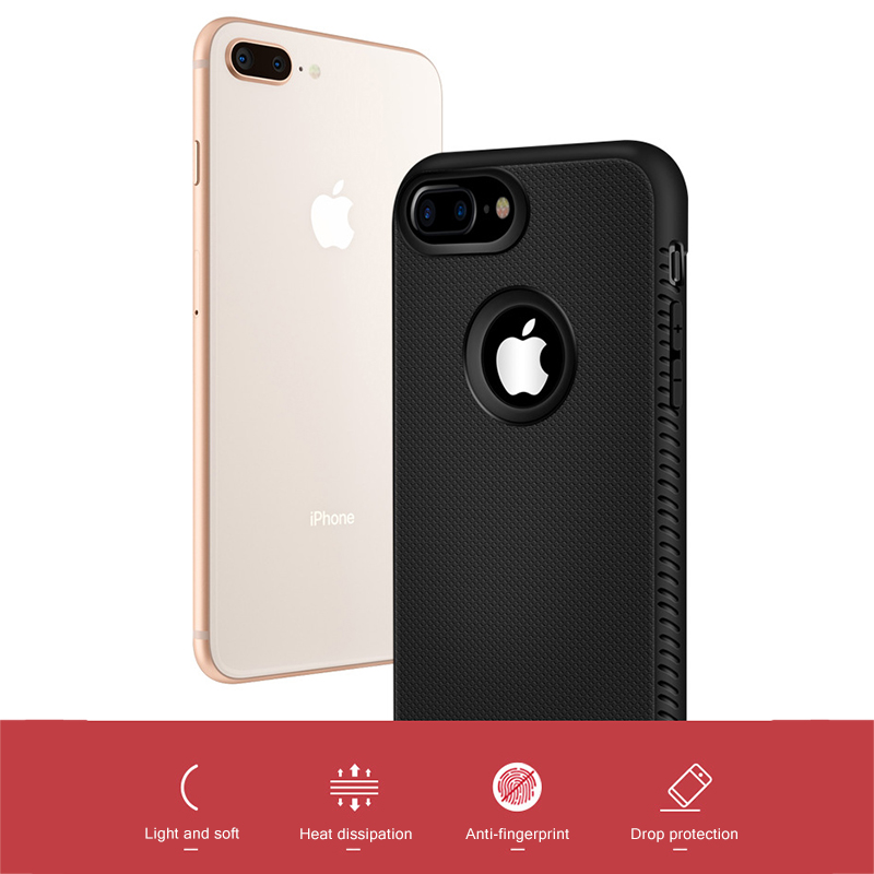 Warmth Dissipation Telephone Case For Iphone 6 6S 7 eight Plus X Xr Xs Max Protecting Telephone Again Cowl Mushy Silicone Fundas Capa