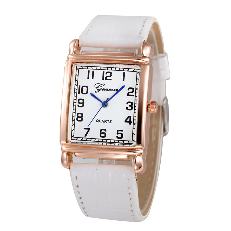 Women Casual Checkers Faux Leather Quartz Analog Wrist ...